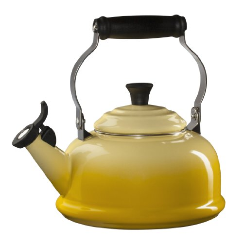 Le Creuset Enamel-on-Steel Whistling 1-4/5-Quart Teakettle, Soleil