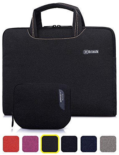 BRINCH Deluxe Leisure Universal Denim Fabric Portable Utra thin Light Durable Waterproof Anti-tear 13.3 inch Laptop Pouch Sleeve Case Bag / Carrying Handbag Briefcase / Laptop Messenger Bag,Fashion Design of Front Pocket,Two Back Pockets,Middle Main Pocket,With Handles and Accessory Bag