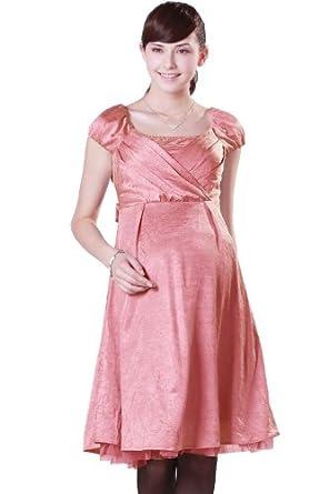 Sweet Mommy Maternity and Nursing Satin Formal Dress SPK L(12-14)