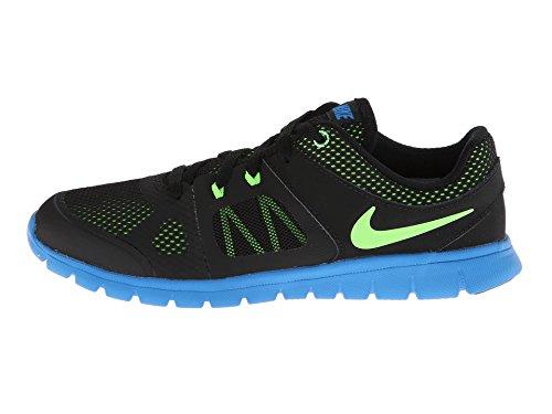 Nike Boy'S Flex 2014 Run Running Shoes (5.5 M Us Big Kid, Black/Black/Photo Blue/Electric Green)