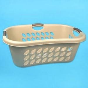 1-1/4 Bushel Sterilite® Seashell Ultra HipHold Laundry Basket