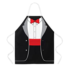 Attitude Apron Tuxedo Apron Black One Size Fits Most