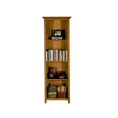 Amazon Com Classic Oak 72 Quot Open Corner Bookcase Finish