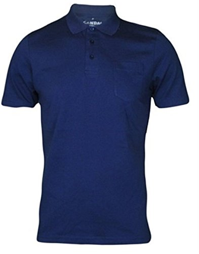 Mens polo shirt with chest pocket short sleeve casual for Mens work polo shirts