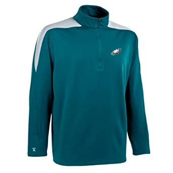 NFL Mens Philadelphia Eagles 1 2 Zip Jersey Pullover by Antigua