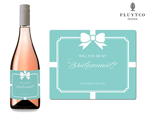Will You Be My? - Set of 8 Bride & Co. Wedding Wine Bottle & Gift Box Labels - Bridesmaid & Maid of Honor Proposal - Engagement Party - Bridal Shower