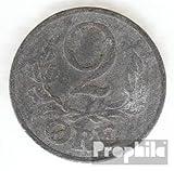 Dinamarca km-No.. : 833 1942 muy ya Zinc 1942 2 Öre Gekröntes Monograma (monedas para los coleccionistas)