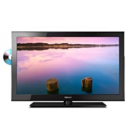 Toshiba 19SLV411U 19-Inch 720p LED-LCD HDTV with Built-in DVD Player, Black
