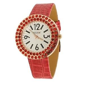 Cocodrilo Imprimir imitación de cuero banda reloj : Sports & Outdoors