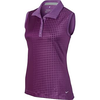 Nike Ladies Faded Dot Sleeveless Polo by Nike