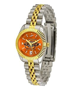 Oklahoma State University Ladies Gold Dress Watch by SunTime