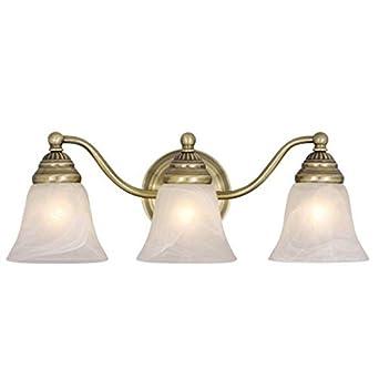 Vaxcel Standford 3L Vanity Light Antique Brass Wall Light
