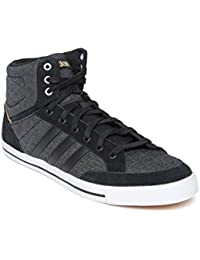 Buy adidas Neo Mens Leather Trainers White/Black/Lead