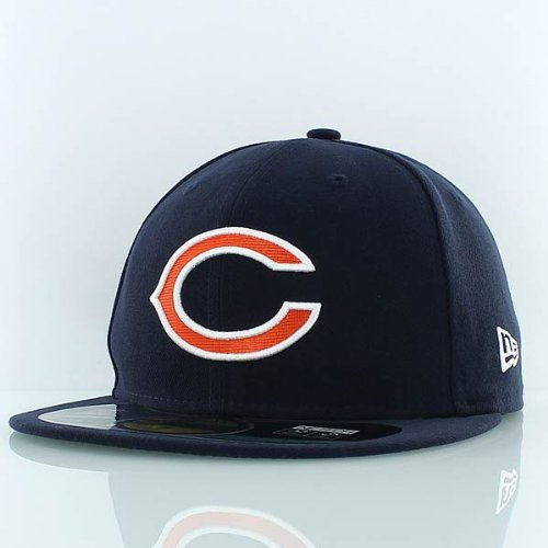 Nfl Chicago Bears On Field 5950 Game Cap, Navy, 7 1/8