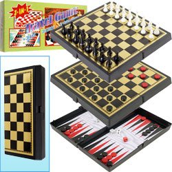 3-in-1 Magnetic Travel Game Set by Trademark GamesT. Product Category: Toys & Games > Games