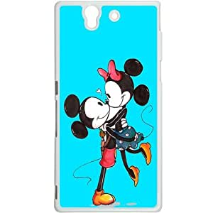 Casotec Beautiful Mickey Mouse Print Design Hard Back Case Cover for Sony Xperia Z