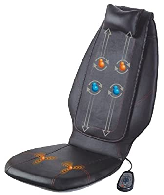 3q Mg-c24 Luxury Dual Massage Seat Cushion Back Massager With A Small Pillow