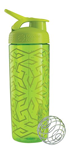 BlenderBottle Signature-Tazza lucida, verde Zen Gala, 28 g/820 ml