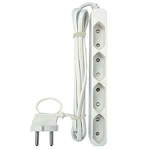 GAO EU4 Eurosteckdosenleiste / Eurosteckerleiste 4-fach Extraflach 1.5 m Kabel