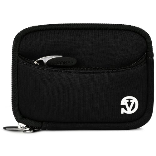 Vangoddy Mini Glove Sleeve Pouch Case For Canon Powershot Elph 140 Is, 135, 340 Hs, 115 Is, 130 Is, 520 Hs, 310 Hs, 510 Hs, 100 Hs, 300 Hs, 500 Hs Digital Cameras (Black)
