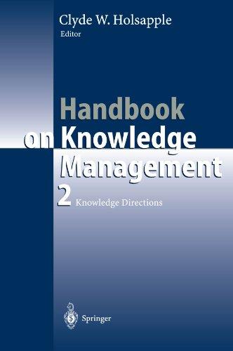 Handbook Of Knowledge Management: Knowledge, Vol. 2