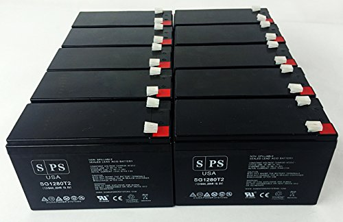 Falcon Electric Sg3K-X1T, Sg3K-X2T 12V 8Ah Ups Battery ( 10 Pack)