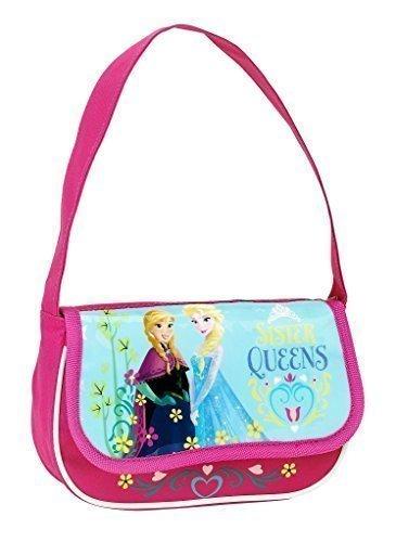 Disney Frozen - Die Eiskönigin, Handtasche Schultertasche (S508), pink/blau, 20 x 12 x 4,5 cm