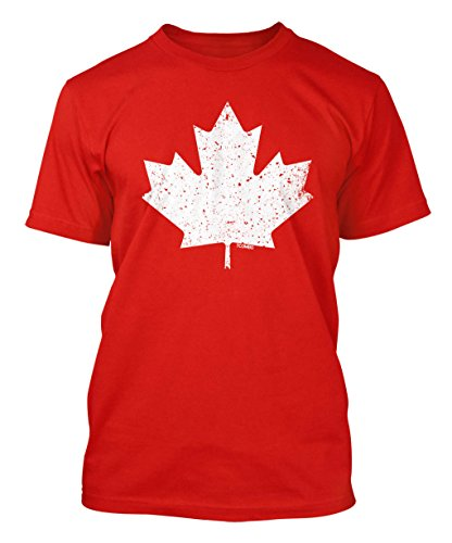 Canada Maple Leaf - Vintage Style Retro Men's T-shirt (Large, RED) (Canada Soccer compare prices)