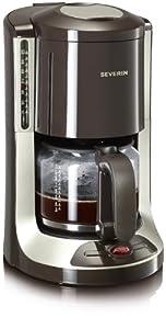 Severin KA 4146 Kaffeeautomat, brau-titan / bis 10 Tassen
