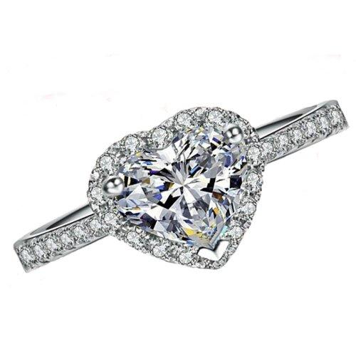 Fashion Plaza Cubic Zirconia Heart Shaped Ring R200-8