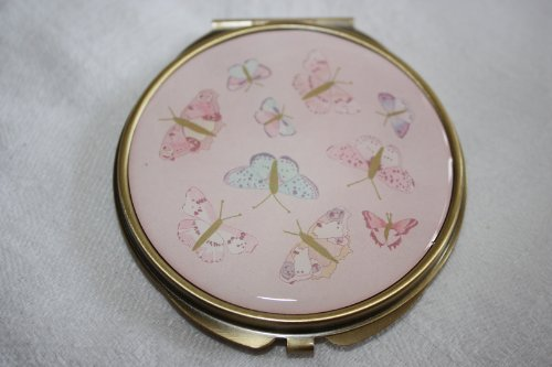 Quality Butterfly / Butterflies Ladies Compact / Make Up Mirror, Gift Boxed, Ideal Mothers Day Gift