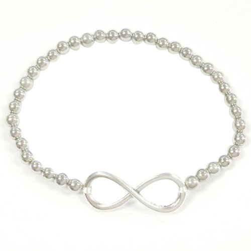 Wrapables Shamballa Inspired Infinity Stretch Bracelet