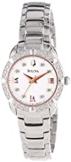 Bulova Womens 96R176 Diamond Set Case Watch