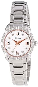 (强猛)Bulova 宝路华 96R176钻石玫瑰金女士腕表 $269.27