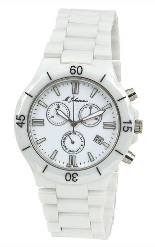 M. Johansson MaconasW Men's Quartz Ceramic Chronograph ISA SWISS Cal.8172. 202 Wrist Watch