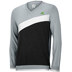 Adidas Mens 2014 Angular Heathered Blocked V-neck Sweater Golf Jumper by adidas
