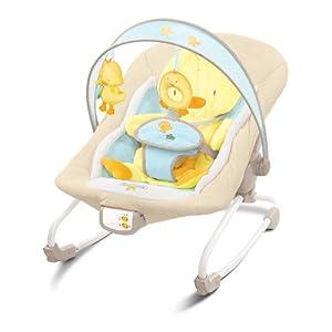 Bright Starts 6978 - Hamaca para bebé con vibración, música y diseño de pato marca Bright-Starts - BebeHogar.com