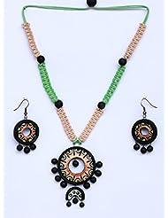 Terracotta Jewellery - Pendant And Earrings