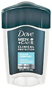 Dove Men + Care Clinical Protection Antiperspirant Deodorant Solid, Clean Comfort, 1.7 oz.