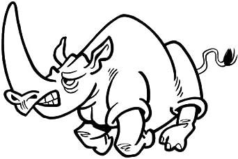 Ira rinoceronte dibujos animados , vinilo adhesivo