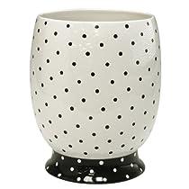 Dots Ceramic Wastebasket