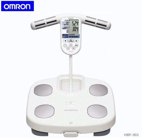OMRONオムロン★体重体組成計HBF-903★体重計 両手両足測定式 基礎代謝、体脂肪率から内蔵脂肪までチェック!