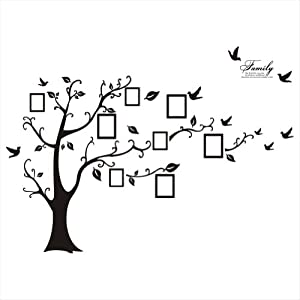 Large Balck Photo Picture Frame Wall Decal Picture Gallery Wall Decal 180cmH