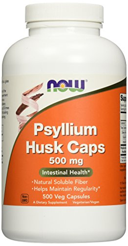 NOW Foods Psyllium Husk 500mg, 500 Vcaps (Now Psyllium Husk Caps compare prices)