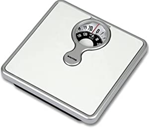484 mechanical bathroom scale with magnifying lens