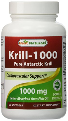 Best naturals krill oil soft gel 1000 mg 60 count the for Is krill oil better than fish oil