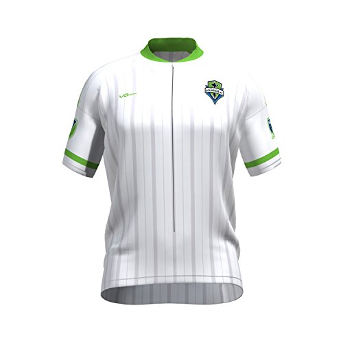 MLS Seattle Sounders FC Women's Secondary Short Sleeve Cycling Jersey, Large, White (Sounders Cycling Jersey compare prices)