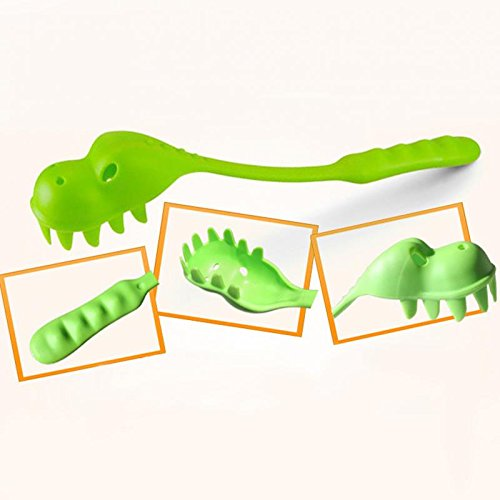 Dinosaur Pasta Spaghetti Pasta Serving Fork Filter Spoon Colher Kitchen Accessories -Pier 27 (Spaghetti Dinosaur compare prices)