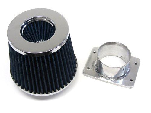 90-97 Lexus Ls400 Sc400 Blue Air Filter Kit + Mass Air Flow Sensor Adapter front-505209