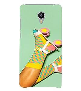 PrintVisa Colorful Girly Roller Skates and Socks 3D Hard Polycarbonate Designer Back Case Cover for Meizu M3 Note